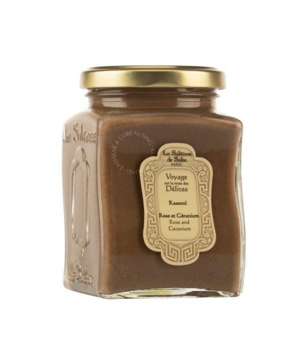 La Sultane De Saba Rassoul Rose & Geranium 300 ml Глина мылящаяся для тела, лица и волос