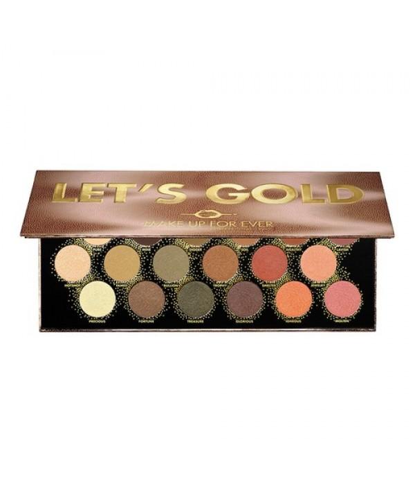 MAKE UP FOR EVER let's gold eye palette палетка теней для век