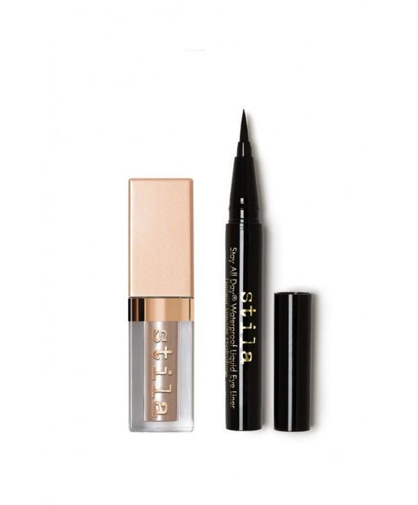 Stila Stay All Day Waterproof Liquid Liner & Shimmer & Glow Liquid Eye Shadowt