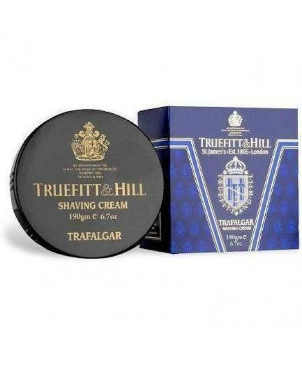 Truefitt&Hill  00001  Trafalgar Shaving Cream  190 г  Trafalgar Крем для бритья (в банке)