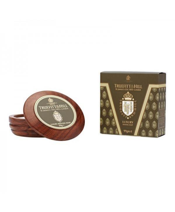 Truefitt&Hill  00042  Luxury Shaving Soap in wooden bowl  99 г  Люкс-мыло для бритья (в деревянной чаше)