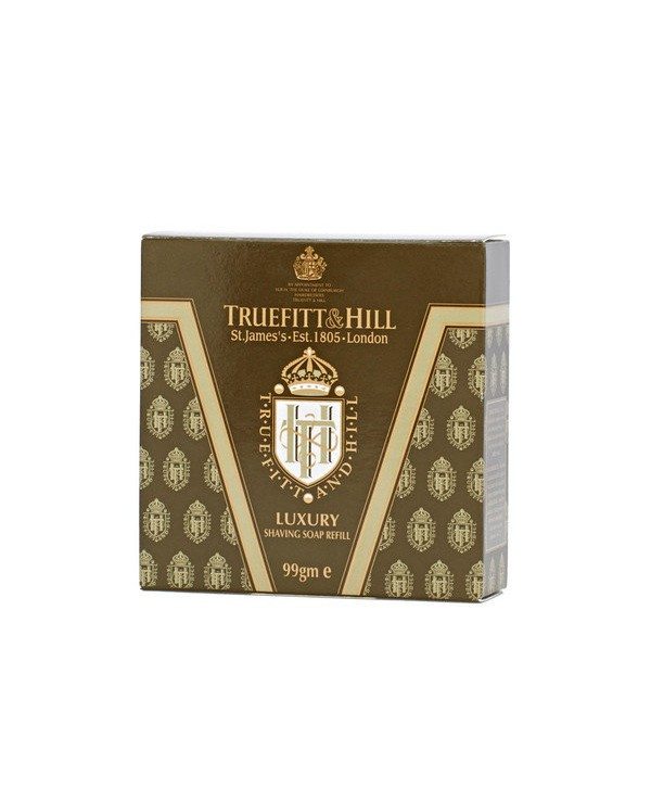 Truefitt&Hill  00043  Luxury Shaving Soap refill  99 г  Люкс-мыло для бритья (запасной блок для деревянной чаши)