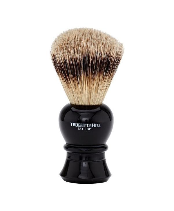 Truefitt&Hill  00179  Кисть для бритья / Ворс серебристого барсука / Эбонит с серебром / Regency