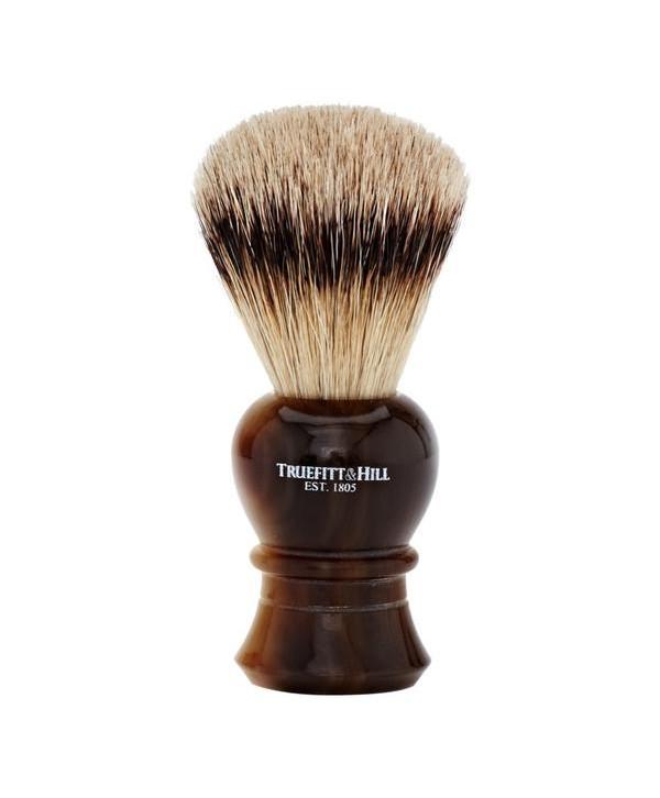 Truefitt&Hill  00181  Кисть для бритья / Ворс серебристого барсука / Рог с серебром / Regency