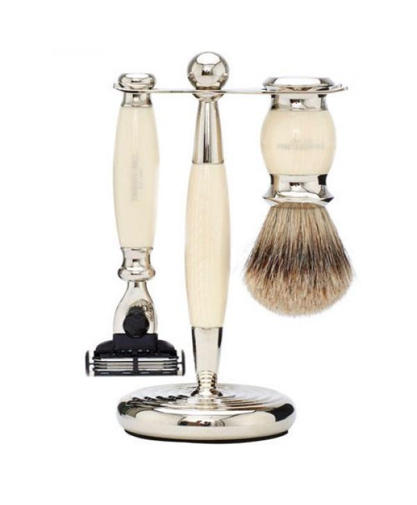 Truefitt&Hill  00330  Кисть для бритья / Станок с лезвием MachIII / Слоновая кость