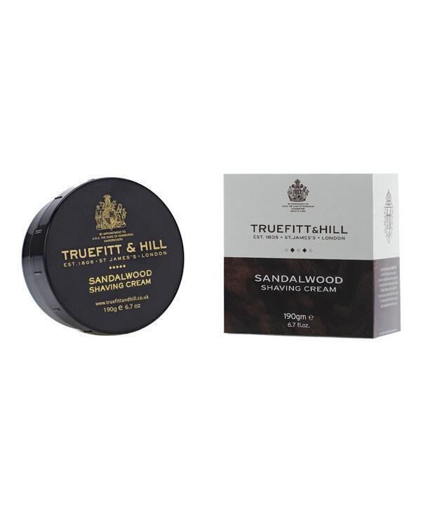Truefitt&Hill  00552  Sandalwood Shaving Cream  190 г  Sandalwood Крем для бритья (в банке)