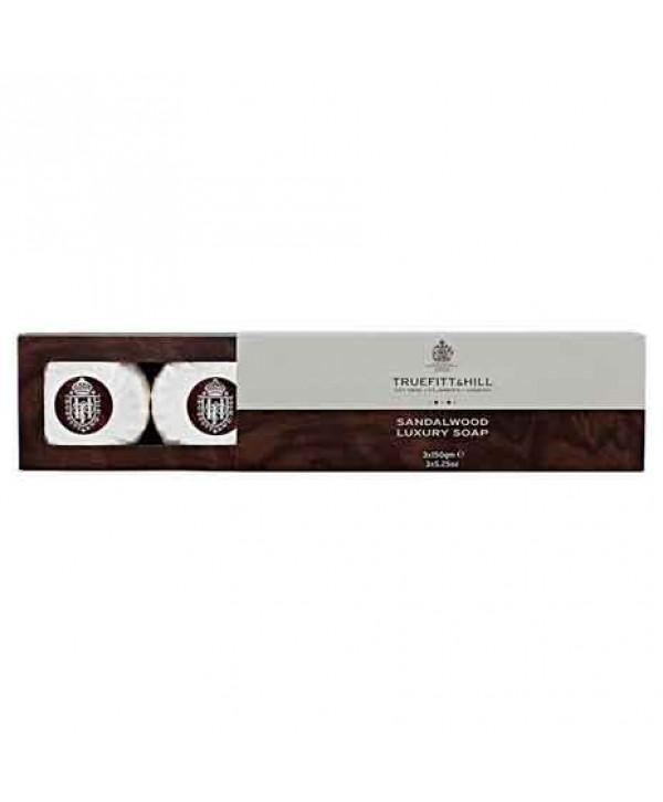 Truefitt&Hill  00555  Sandalwood Soap (triple)  3 х 150 г  Sandalwood мыло для рук и тела (3 шт.)