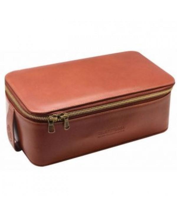 Truefitt&Hill  00565  Прямоугольная косметичка на молнии / Светло-коричневая