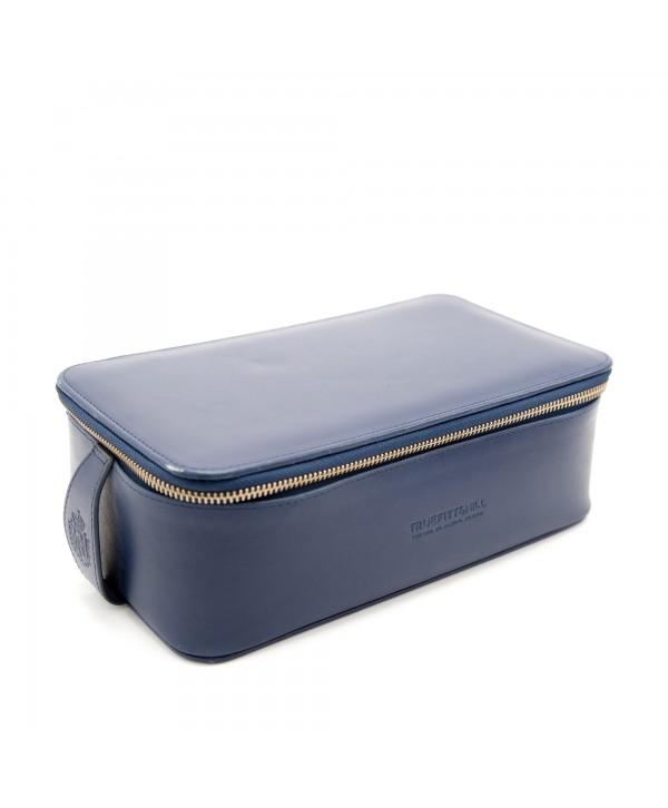 Truefitt&Hill  00578  Regency Box Bag - Blue  Прямоугольная косметичка на молнии / Синяя