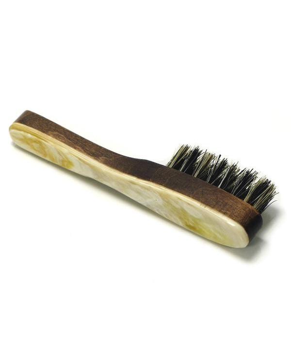 Truefitt&Hill  00623  Щетка для бороды из натуральной щетины с отделкой благородного дерева и рога