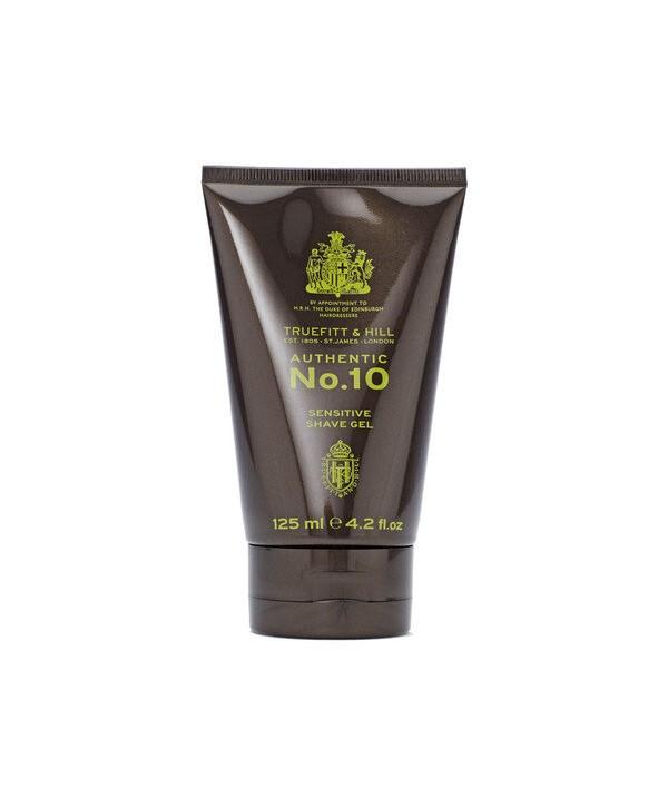 Truefitt&Hill  01002  Authentic No. 10 Sensitive Shave Gel  125 мл  Authentic No. 10 Гель для бритья для чувствительной кожи
