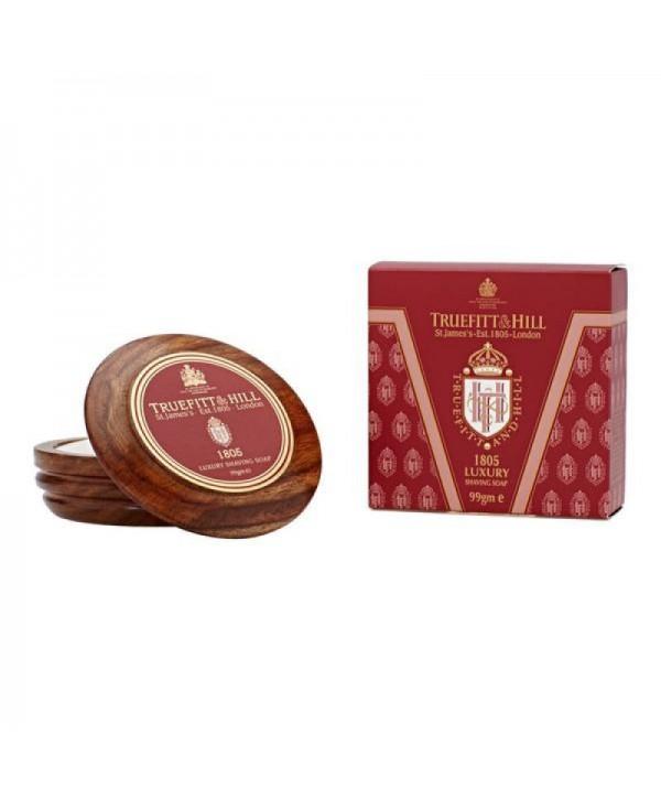 Truefitt&Hill  01805  1805 Luxury Shaving Soap in wooden bowl  99 г  Люкс-мыло 1805 для бритья (в деревянной чаше)