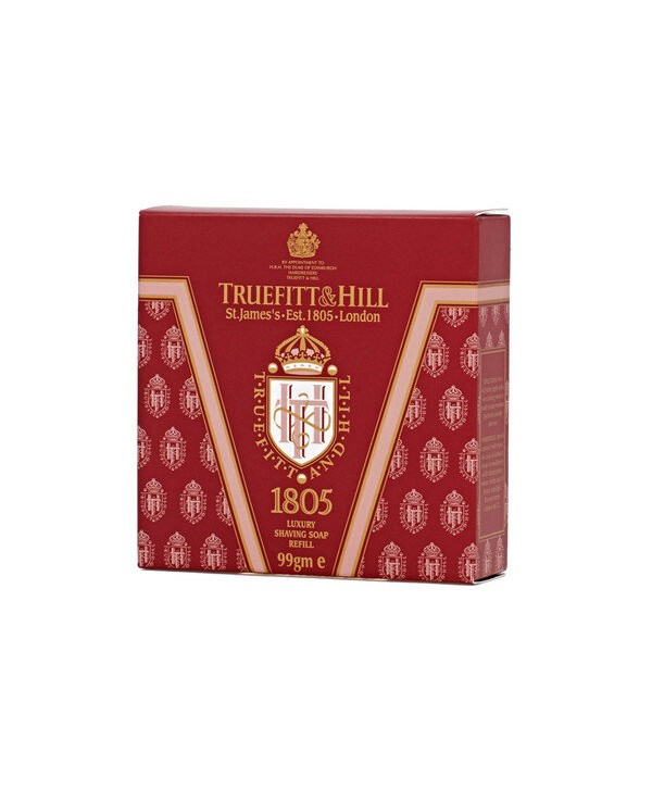 Truefitt&Hill  01806  1805 Luxury Shaving Soap refill  99 г  Люкс-мыло 1805 для бритья (запасной блок для деревянной чаши)