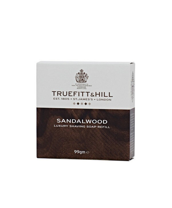 Truefitt&Hill  01807  Sandalwood Luxury Shaving Soap refill  99 г  Люкс-мыло Sandalwood для бритья (запасной блок для деревянной чаши)