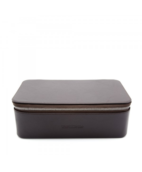 Truefitt&Hill  90004  Regency Box Bag - Brown  Прямоугольная косметичка на молнии / Коричневая