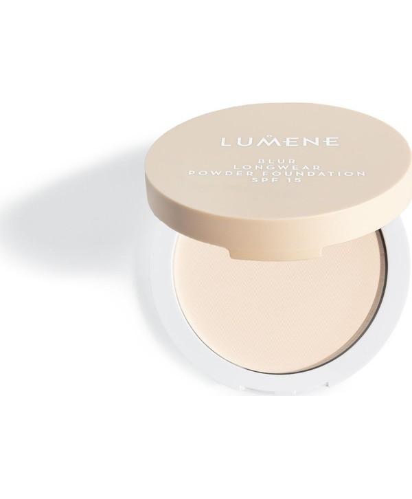 LUMENE Matte Pressed Powder Компактная пудра матирующая тон 2 Soft Honey