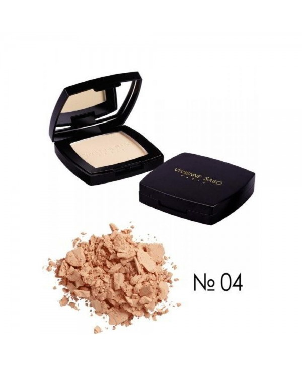 Vivienne Sabo 04 Пудра компактная матирующая/ Mattifying Pressed powder/ Poudre Matifiante compacte